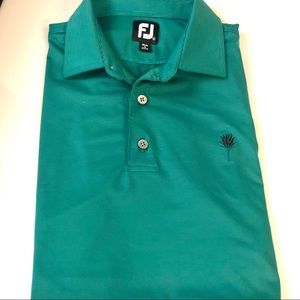 Men's FootJoy Green Golf Shirt